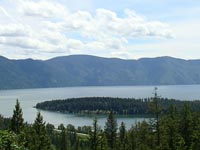 Absolutely stunning views of Lake Pend Oreille, the great Monarch Mountains and Hope Peninsula